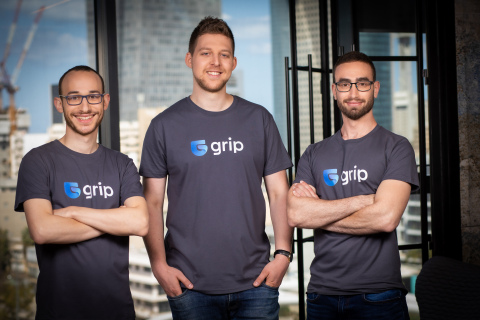 Founders: Grip Security Co-founders, l. to r.: Idan Fast (CTO), Lior Yaari (CEO), Alon Shenkler (VP R&D). Grip is offering the industry's most comprehensive SaaS security solution, enabling organizations to discover and secure all SaaS applications with no exceptions, from any device and any location. (Photo: Business Wire)