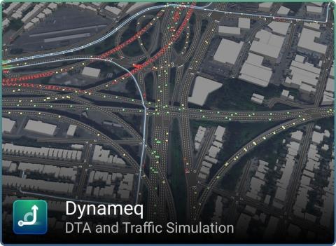 Imagem produzida com o Dynameq (https://www.inrosoftware.com/dynameq) usando dados do SFCTA (https://www.sfcta.org/) (Image courtesy of INRO)