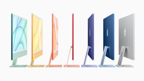 iMac features a stunning all-new design that is remarkably thin, with a striking side profile that practically disappears. (Photo: Apple)