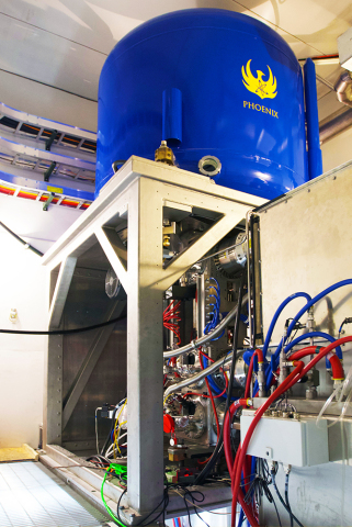 Phoenix built the first-production neutron generator for SHINE. It is housed in SHINE's demonstration facility in Janesville, Wis. (Photo: SHINE Medical Technologies)