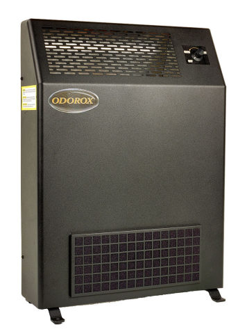 The Odorox®/Pyure Slimline™ Model is ideal for eliminating harmful germs, chemical VOCs, and odors typically found in public spaces within enclosed buildings. It is the perfect choice for medical offices, long term care facilities, classrooms, commercial offices, residential homes, and apartments. It is equipped with a variable speed fan control and a washable filter. Coverage rate: Up to 1500 sq. ft. (Photo: Business Wire)
