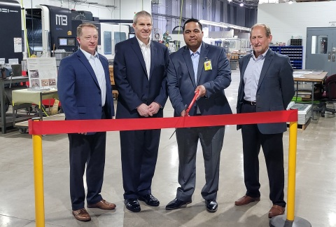 Pictured above are (left to right) ATSG Chief Operating Officer Ed Koharik, ATSG Chief Commercial Officer Mike Berger, Airborne President Todd France, and ATSG Chairman of the Board Joe Hete. (Photo: Business Wire)