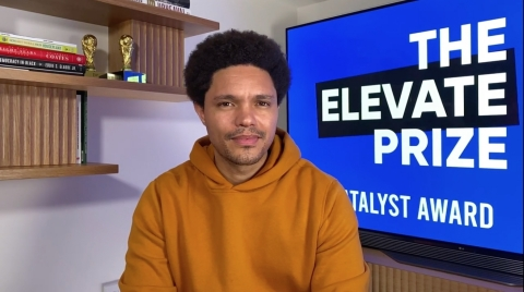 The Elevate Prize Foundation awarded Trevor Noah the first-ever Catalyst Award.