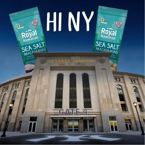 Royal Hawaiian Orchards' macadamia nuts now available at Yankee Stadium (Graphic: Business Wire)