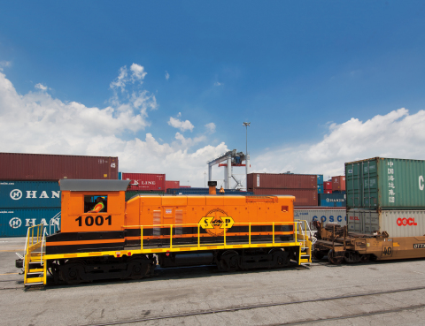 Genesee & Wyoming today announced its subsidiary Savannah Port Terminal Railroad has broadened its long-term rail services agreement with the Georgia Ports Authority to include GPA's new Mason Mega Rail Terminal. (Photo: Business Wire)
