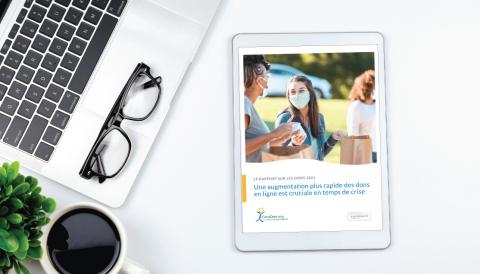 Le rapport sur les dons, publié par CanaDon, révèle que les dons en ligne ont plus que doublé en 2020 en réponse à la crise (Photo: Business Wire)