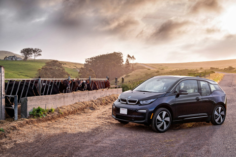 Straus Family Creamery and BMW Group celebrate Earth Day with advancement of Low Carbon Fuel Standard Program for cow-powered climate change solutions. (Photo: Business Wire)
