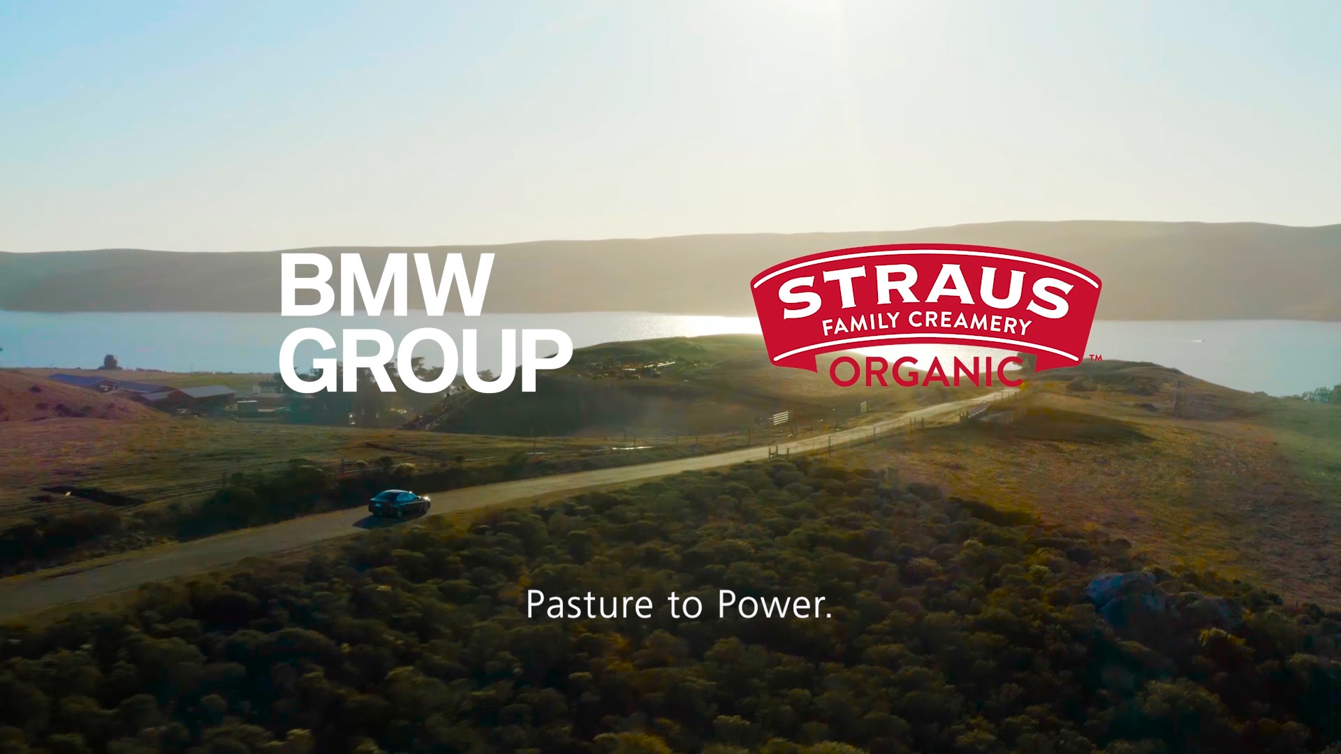 """Watch the video to learn how BMW Group can """"power"""" their customers' electric vehicles with ultra-low carbon intensity electric fuel produced from biodigester technology on the Straus Organic Dairy Farm."""