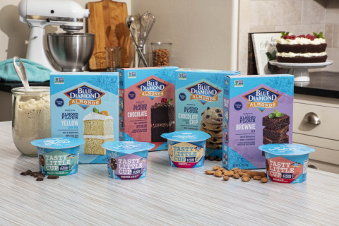 Blue Diamond Baking Mixes and Tasty Little Cup™ (Photo: Business Wire)