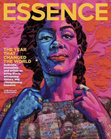 """MARKING """"THE YEAR THAT CHANGED THE WORLD,"""" ESSENCE RELEASES FIRST-EVER QUILT ARTWORK COVER — CAPTURING THE TRANSFORMATIVE EVENTS OF 2020 (QUILT ARTWORK BY BISA BUTLER)"""