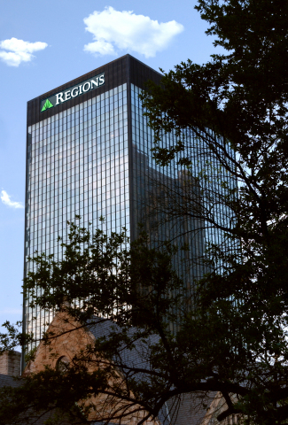Regions corporate headquarters in Birmingham, Ala. (Photo: Business Wire)