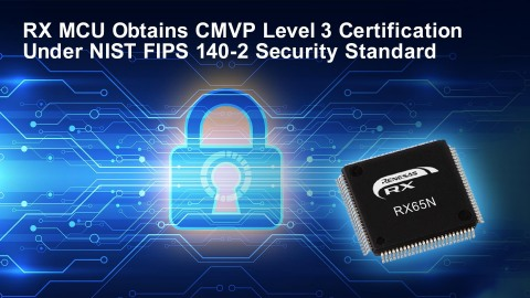 RX MCU obtains CMVP Level 3 certification under NIST FIPS 140-2 security standard (Graphic: Business Wire)