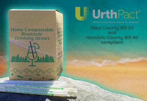 Aloha UrthPact Home Compostable Straws! (Photo: Business Wire)