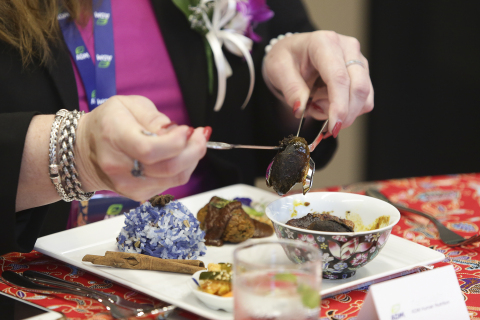 Guests were treated to a plant-based Peranakan lunch during the opening day of ADM's Plant-based Innovation Lab in Singapore. (Photo: Business Wire)