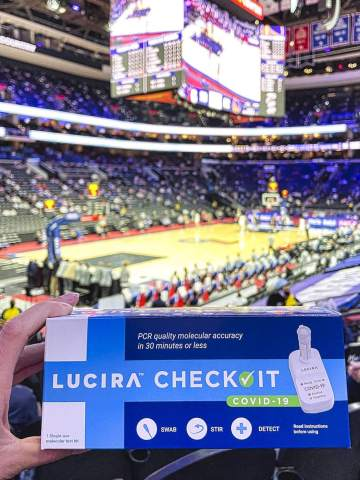 For the first time ever, NBA fans can test themselves for COVID-19 before attending a live game. The testing program debuts in San Francisco Bay Area this Friday with LUCIRA™ Check It COVID-19 At-Home Test. (Photo: Business Wire)