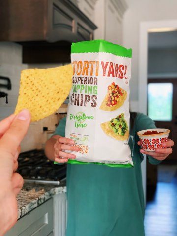 TORTIYAHS!® Brazilian Lime-flavored tortilla chips. Source: Utz Brands, Inc.