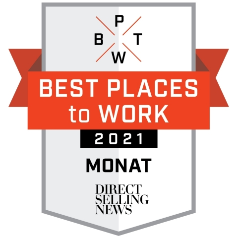 MONAT Global named as one of the best places to work by Direct Selling News. (Graphic: Business Wire)