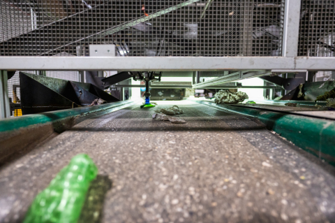 AMP Robotics has deployed six AI-guided robotic sorting systems with Evergreen, one of the nation's largest recyclers of PET bottles, at its Ohio processing facility. (Photo: Business Wire)