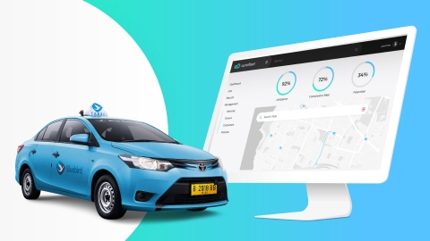 Bluebird partners with Autofleet and ABeam to optimize and scale one of Asia's largest taxi fleets. (Graphic: Business Wire)