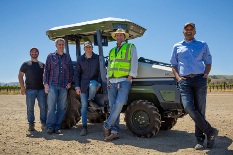 Monarch Tractor and Wente Vineyards celebrate the first deployment of Monarch's award-winning tractor. (Photo: Business Wire)