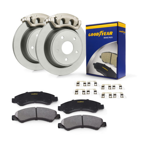 The new line of Goodyear Brakes provides premium quality brake bundles, calipers, rotors, brake pads and all the hardware for today's most popular vehicles, from daily drivers to SUVs as well as light trucks. (Photo: Business Wire)