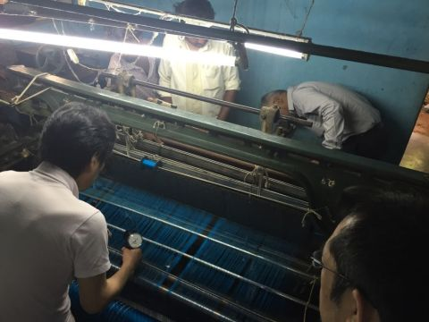 Technical support for a local weaver (Photo: Business Wire)
