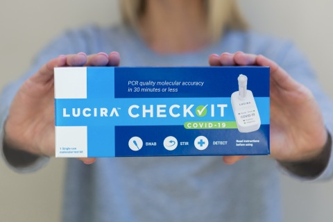 Health Canada issues Authorization with Conditions for LUCIRA™ CHECK IT COVID-19 Self-Test. It is the first self-test authorized by Health Canada for individuals with or without COVID-19 symptoms. (Photo: Business Wire)