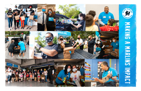 Miami Marlins employees are making an impact on their community throughout COVID (Photo: Business Wire)