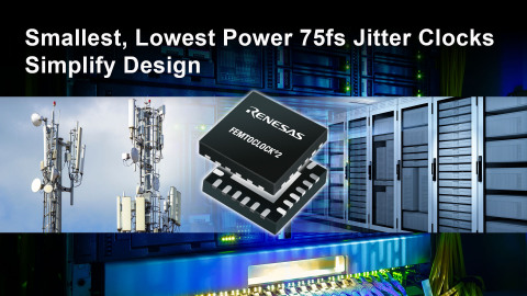 Smallest, lowest power 75fs jitter clocks simplify design (Graphic: Business Wire)