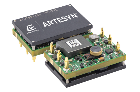 Advanced Energy's new Artesyn AVD200-48S12 is an ultra-small 48 V input DC-DC power converter designed for 5G digital communications modules, power-over-ethernet, and optical network applications in telecommunications and data communications. It delivers superior power density in a small form factor, shrinking the power conversion footprint to significantly increase available PCB space for critical functions. Delivering superior power density in a small form factor, the AVD200-48S12 increases operational efficiency by cutting power-conversion losses while reducing overall system costs. (Photo: Business Wire)