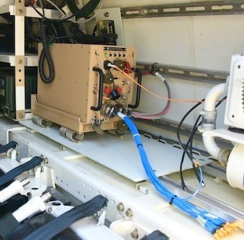 Spectranetix ComScan chassis mounted in US Army Stryker Vehicle (Photo: Business Wire)