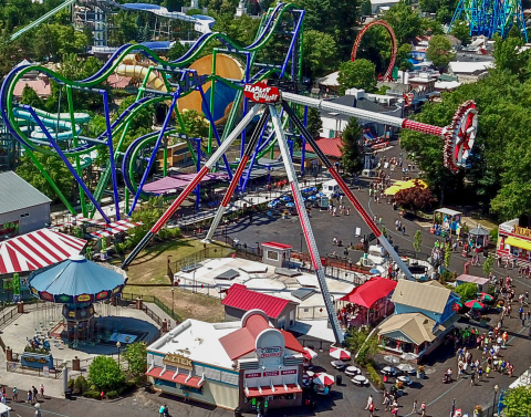 Six Flags New England will reopen with a full complement of roller coasters, rides, and attractions on May 14, 2021. (Photo: Business Wire)
