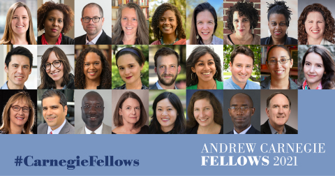 Through the humanities and social sciences, #CarnegieFellows help us to better understand where we've been, where we're going, and the enduring challenges confronting our society. Congratulations to the Class of 2021! (Photo: Business Wire)