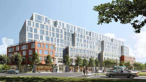 Podium Developments celebrates drilling completion at the first-ever large multifamily residential geothermal building in Kingston, ON at 575 Princess Street. (Photo: Business Wire)