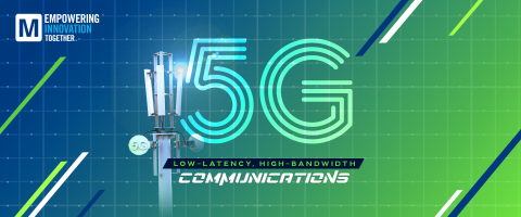 The first episode of Mouser's The Tech Between Us podcast will spotlight 5G technology, delving into the capabilities and impact of fifth-generation wireless technology on communications, robotics, manufacturing and automation. (Photo: Business Wire)