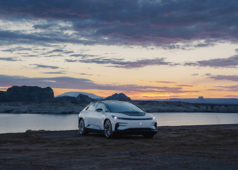 The ultimate-intelligent, tech-luxury Faraday Future FF 91 will deliver a unique electric mobility experience which combines extreme technology, ultimate user-experience and a holistic ecosystem. Velodyne's solid state Velarray H800 lidar sensors will power the FF 91's autonomous driving system that aims to deliver a comprehensive suite of highway, urban and parking autonomy features. (Photo: Faraday Future)