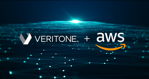 Veritone announces its support for a new AWS initiative that will enhance Veritone's AI-enabled applications to provide new ways for business and content creators to quickly find, share and monetize their content. (Graphic: Business Wire)