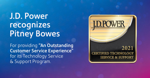 """Pitney Bowes has been recognized by J.D. Power for providing """"An Outstanding Customer Service Experience"""" for its Technology Service & Support Program. (Photo: Business Wire)"""