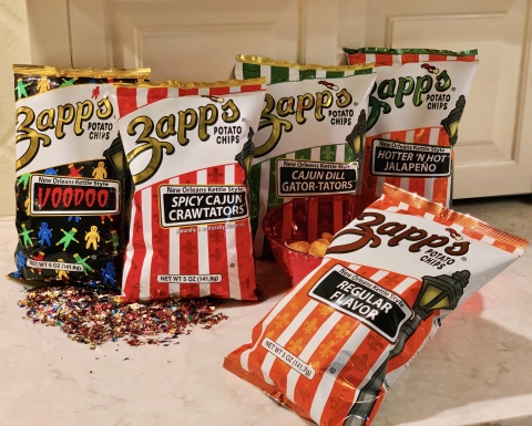 Try'm all! Zapp's® New Orleans Kettle Style Potato Chips flavors! Source: Utz Brands, Inc.