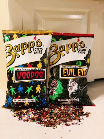 You'll love Zapp's® New Orleans Kettle Style Potato Chips Voodoo® and Evil Eye™! Source: Utz Brands, Inc.