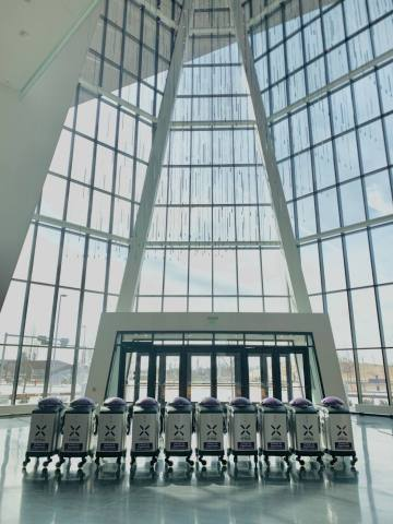The Oklahoma City Convention Center is now using 10 LightStrike Germ-Zapping Robots to quickly and effectively destroy harmful pathogens that can lurk on high-touch surfaces. (Photo: Business Wire)