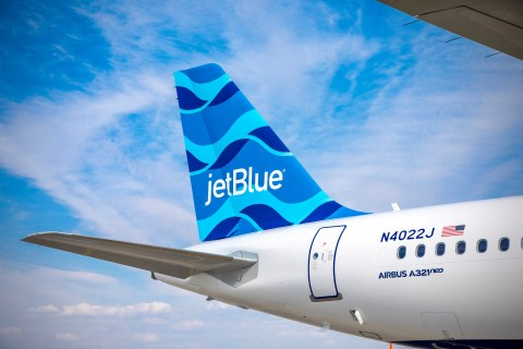JetBlue today announced it has taken delivery of the airline's first Airbus A321 Long Range (LR) aircraft. (Photo: Business Wire)