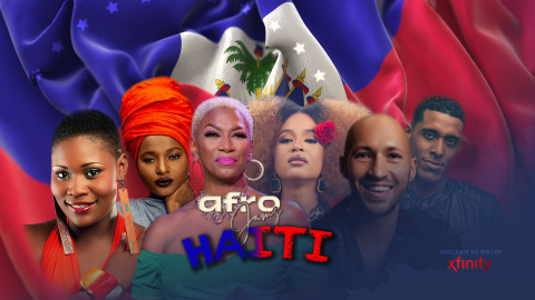 The series will kick off Live on May 18, 2021 with performances from 6 groundbreaking and very popular Haitian Artists in celebration of the 218th anniversary of the Haitian Flag: Rutshelle Guillaume, Anie Alèrte, Sisaundra Lewis (Host), Fatima Altieri, J-Perry, Michael Benjamin (Photo: Business Wire)