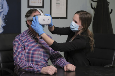 KOVR is patient testing its new VR platform, Stratos, and the first piece of health care software, the Diabetic Retinopathy Module. (Photo: Business Wire)