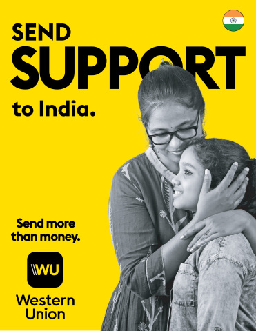 Western Union Supports India COVID Relief (Graphic: Business Wire)