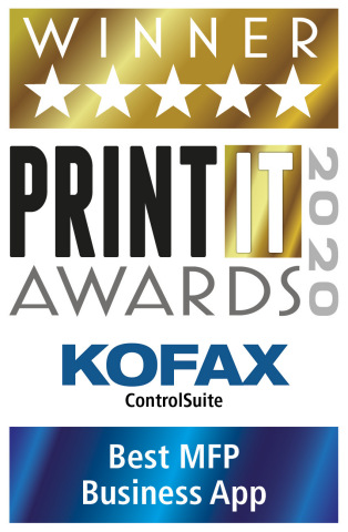 Kofax Wins PrintIT Award for Best MFP Business App (Graphic: Business Wire)