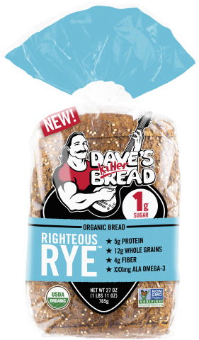 Dave's Killer Bread® introduces Righteous Rye™, a bold new take on the deli classic. (Photo: Business Wire)