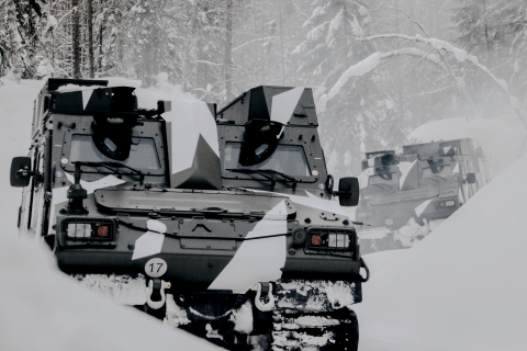 BAE Systems will produce and deliver 127 BvS10 all-terrain vehicles to the Swedish Army, as it expands its existing fleet of BvS10s to meet mission requirements. The vehicle can traverse rock, mountains, snow, and swamps and its amphibious capability allows it to seamlessly transition to swimming. Photo: BAE Systems