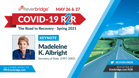 Everbridge COVID-19: Road to Recovery (R2R) Spring Symposium, May 26 & 27, 2021 (Graphic: Business Wire)