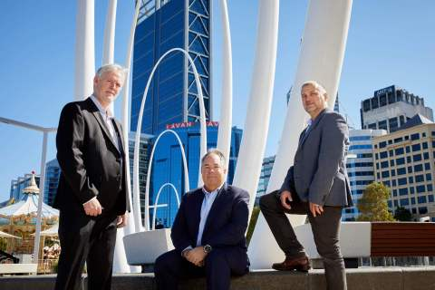Ian Halse, Mike Kelly & Sergej Divkovic from Electro 80 (Photo: Business Wire)